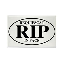 Rest In Peace Rectangle Magnet