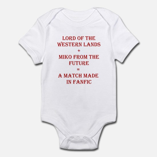 Lord+Miko Red Infant Bodysuit