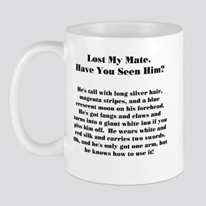 Lost Mate Black Mug