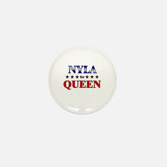 NYLA for queen Mini Button