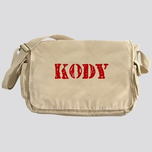 Kody Rustic Stencil Design Messenger Bag