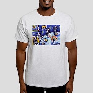 Boston Terrier b-day party Ash Grey T-Shirt