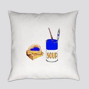 Soup and sandwich Everyday Pillow
