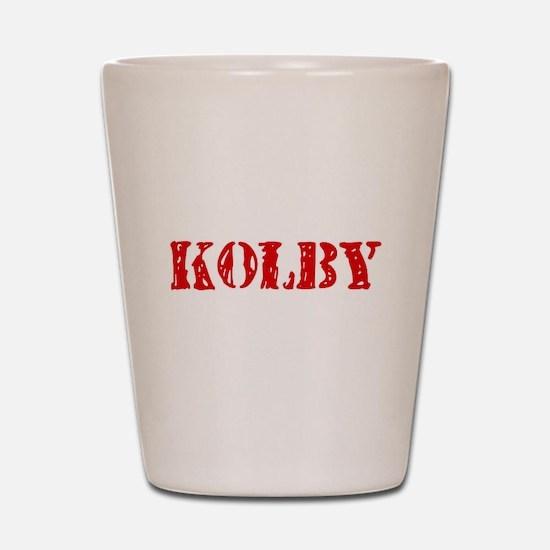 Kolby Rustic Stencil Design Shot Glass