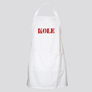 Kole Rustic Stencil Design Light Apron