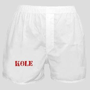 Kole Rustic Stencil Design Boxer Shorts