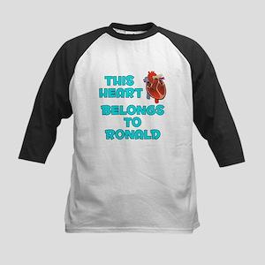 This Heart: Ronald (B) Kids Baseball Jersey