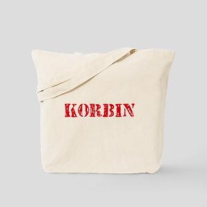 Korbin Rustic Stencil Design Tote Bag