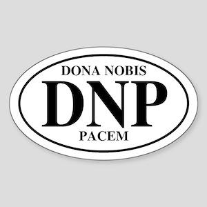 Grant Us Peace Oval Sticker