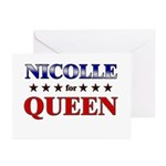NICOLLE for queen Greeting Cards (Pk of 20)