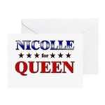 NICOLLE for queen Greeting Card