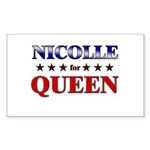 NICOLLE for queen Rectangle Sticker