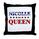 NICOLLE for queen Throw Pillow