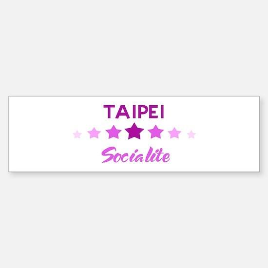 TAIPEI socialite Bumper Bumper Bumper Sticker