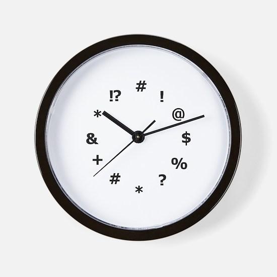 """!*&%#@?!!!"" Wall Clock"