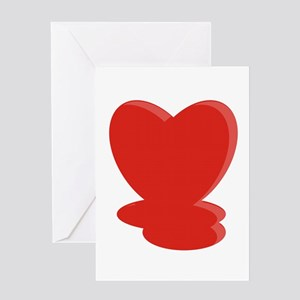 Melted Heart Greeting Card
