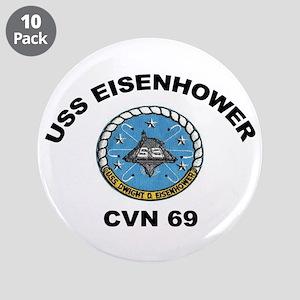 """USS Eisenhower CVN-69 3.5"""" Button (10 pack)"""
