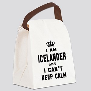I am Icelander and I can't keep c Canvas Lunch Bag