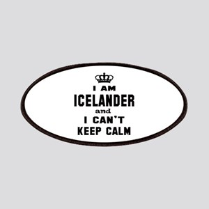 I am Icelander and I can't keep calm Patch