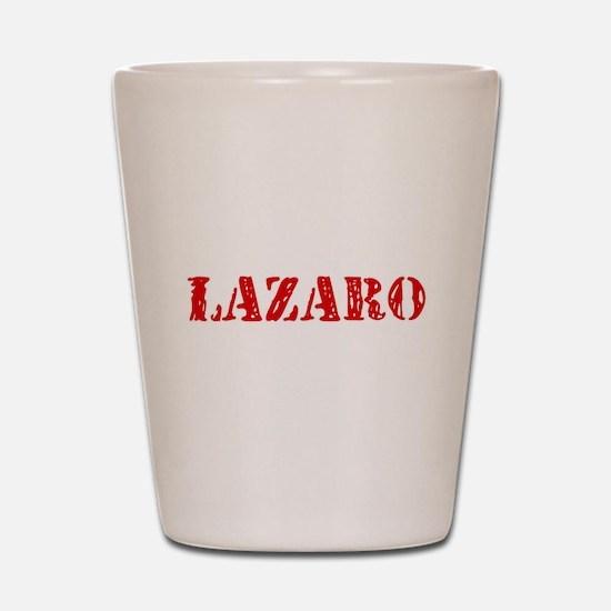 Lazaro Rustic Stencil Design Shot Glass
