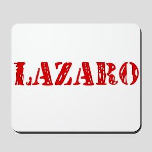 Lazaro Rustic Stencil Design Mousepad