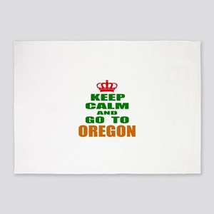 Keep Calm And Go To Oregon 5'x7'Area Rug