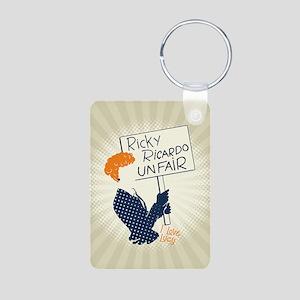 Ricky Ricardo Unfair Lucy Aluminum Photo Keychain