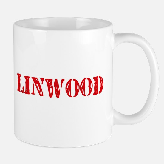 Linwood Rustic Stencil Design Mugs