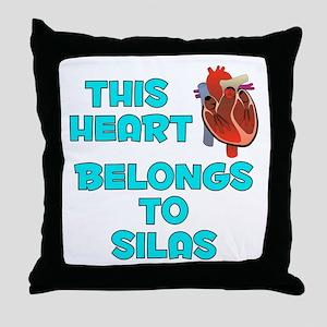 This Heart: Silas (B) Throw Pillow