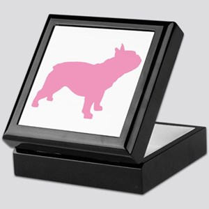 Pink French Bulldog Keepsake Box