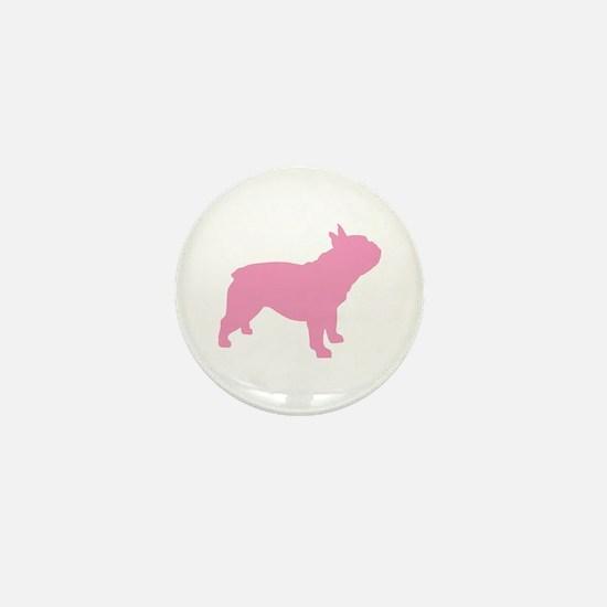 Pink French Bulldog Mini Button