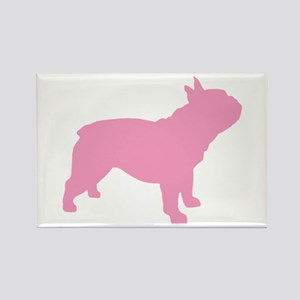 Pink French Bulldog Rectangle Magnet