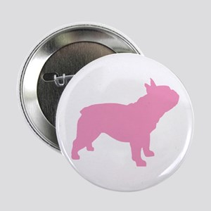 "Pink French Bulldog 2.25"" Button"