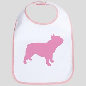 Pink French Bulldog Bib