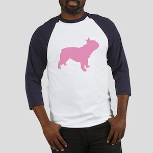 Pink French Bulldog Baseball Jersey