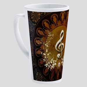 Music, wonderful decorative clef with floral eleme