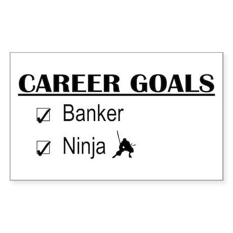 Banker Career Goals Rectangle Sticker
