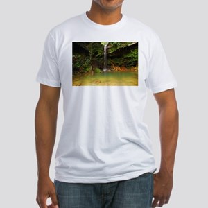 Zen waterfall Fitted T-Shirt