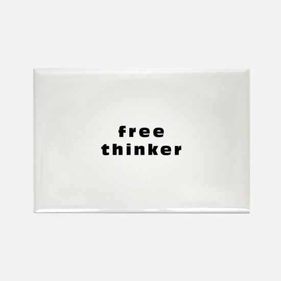 Free thinker Rectangle Magnet