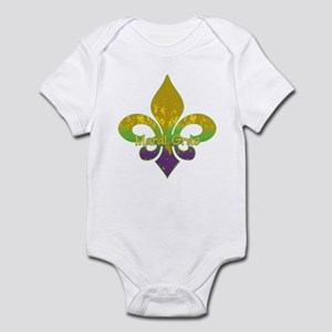Fleur de lis Mardi Gras Infant Bodysuit