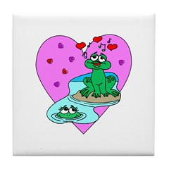 Love Frogs Tile Coaster
