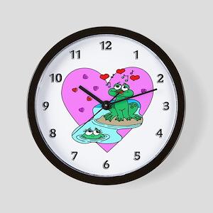 Love Frogs Wall Clock