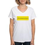 NOglobalwarming Women's V-Neck T-Shirt