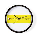 NOglobalwarming Wall Clock