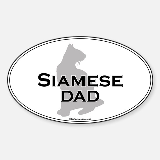 Siamese Dad Oval Decal