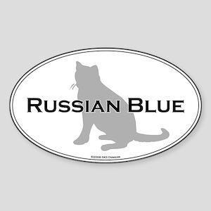 Russian Blue Oval Oval Sticker