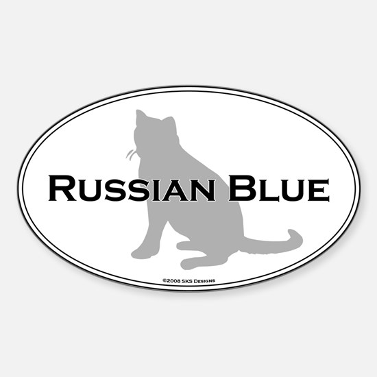Russian Blue Oval Oval Decal