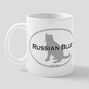 Russian Blue Oval Mug