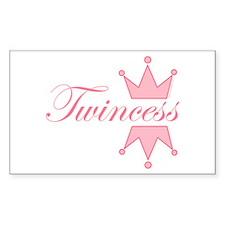 Twincess - Rectangle Sticker