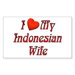 I Love My Indo Wife Rectangle Sticker